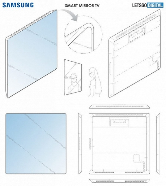 samsung smart mirror tv inteligentne lustro