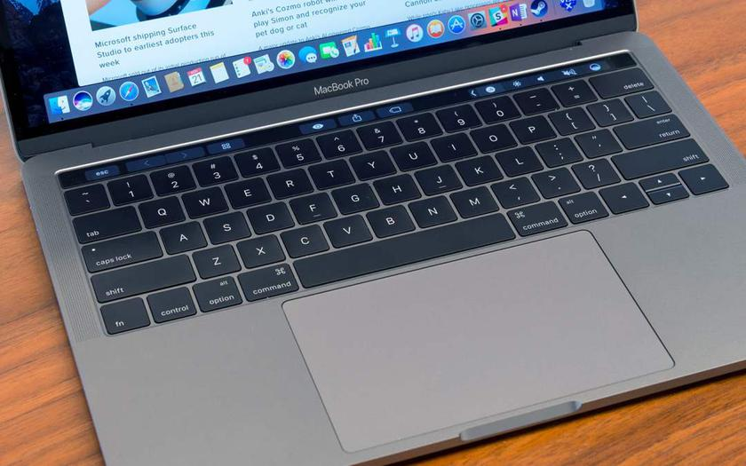 macbook panel dotykowy szklana klawiatura