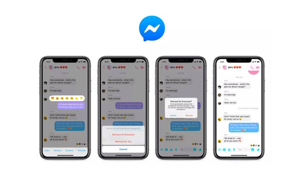 Facebook pozwolił usuwać wiadomości