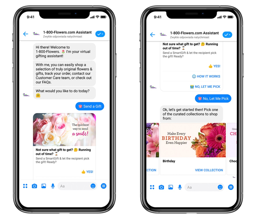 Chatbot 1 800 Flowers