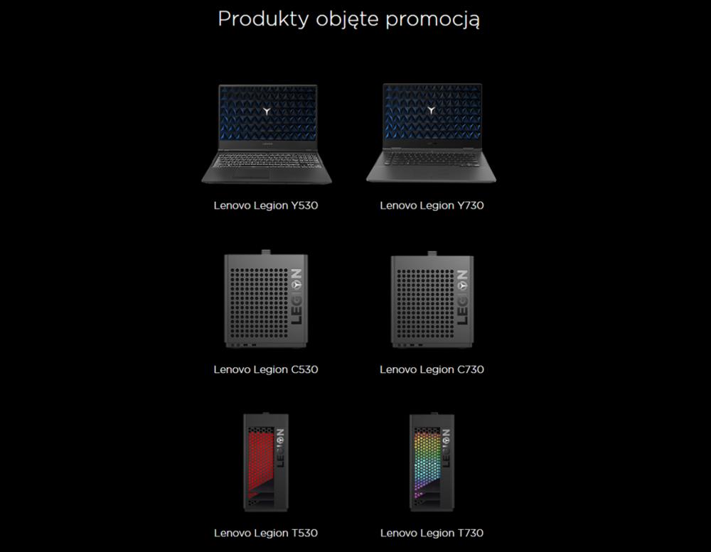 Akcesoria Lenovo Legion w prezencie za zakup laptopów i desktopów dla graczy 2