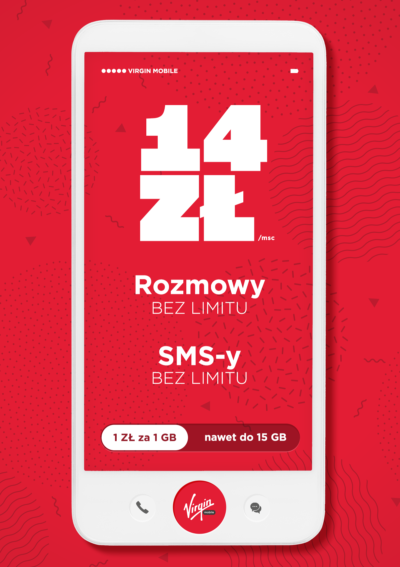Vrigin Mobile tani abonament za 14 PLN
