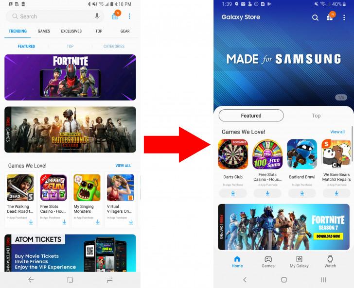 Samsung zaktualizował swój sklep z grami i aplikacjami, również otrzymał nowy interfejs i imię