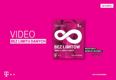 Video bez limitu danych z najszybszym internetem mobilnym w Polsce – prosto od T‑Mobile na kartę