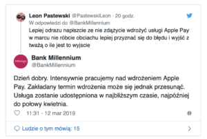 bank millennium apple pay