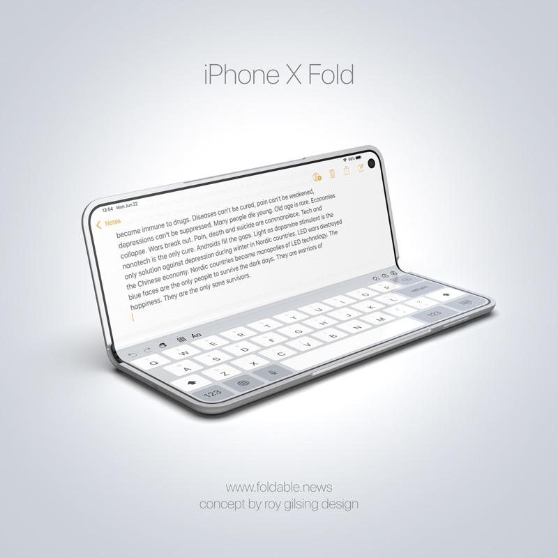 iPhone apple składany smartfon