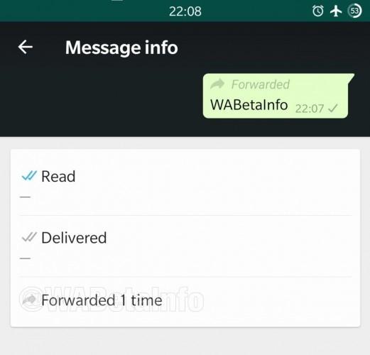 WhatsApp powiadomi o przesłaniu komunikatu 1