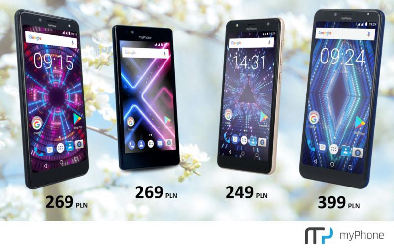 myPhone z wiosenną promocją smartfonów. Modele taniej nawet o 100 zł