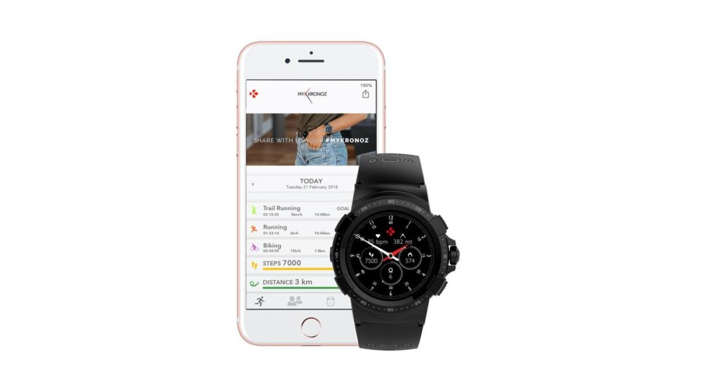 ZeSport2 Black&Grey Silicone Watch + app 1