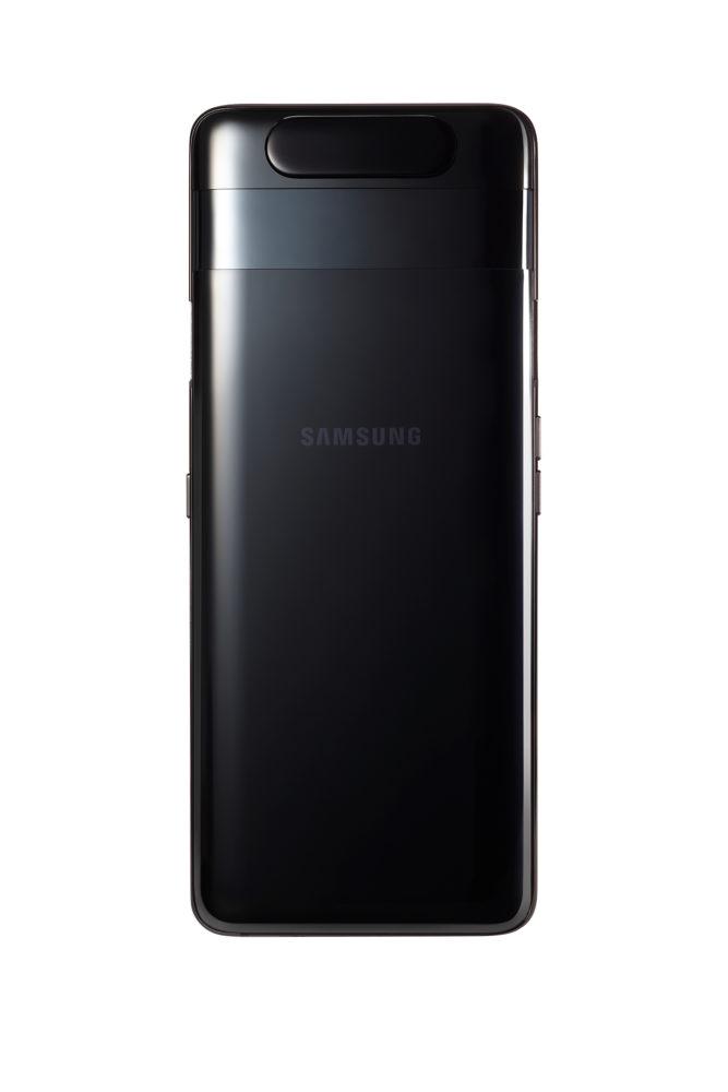 06 GalaxyA80 Phantom Black back no camera