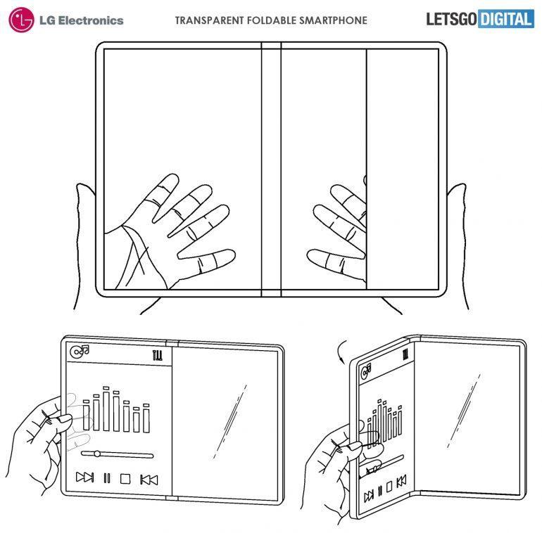 składany przezroczysty smartfon