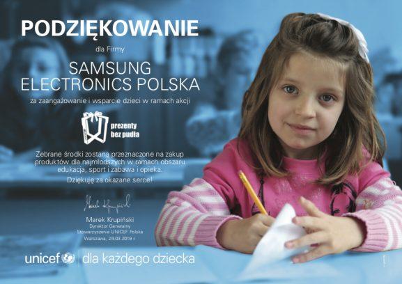 Blisko 13 000 dzieci obdarowanych w ramach akcji #FunkcjaDobroczynności marki Samsung