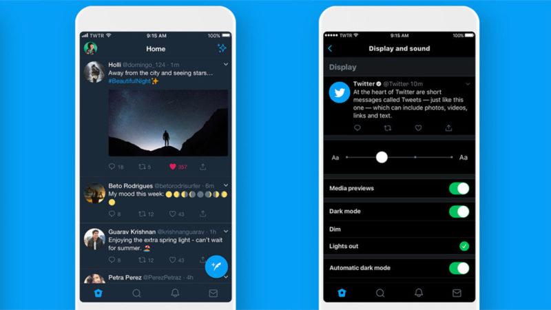 """Twitter """"wyłączył światło"""" w aplikacji dla oszczędzania baterii smartfona"""