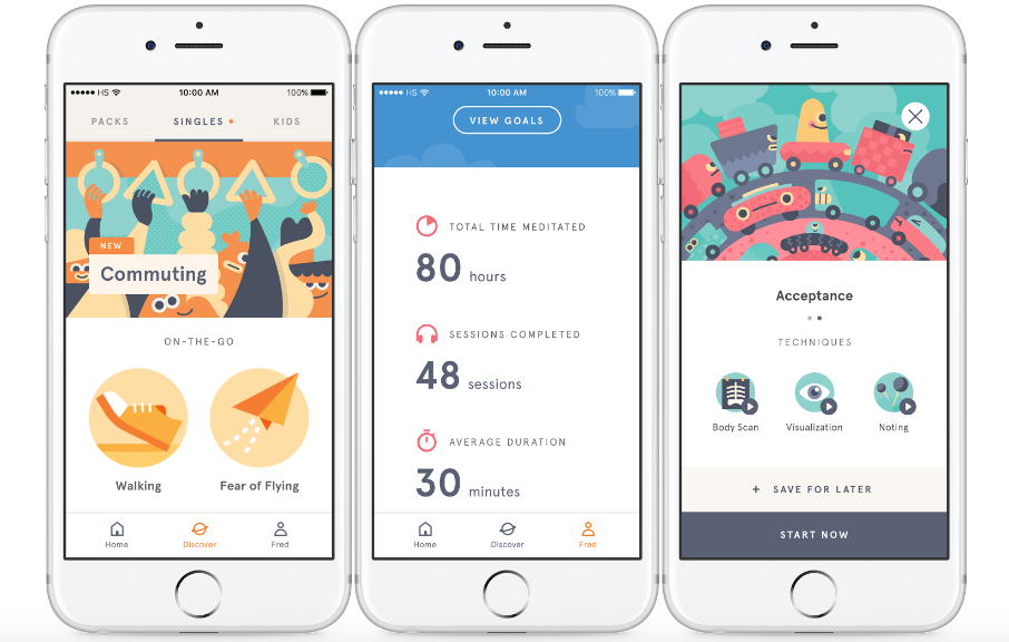 headspace smartphone app for meditation