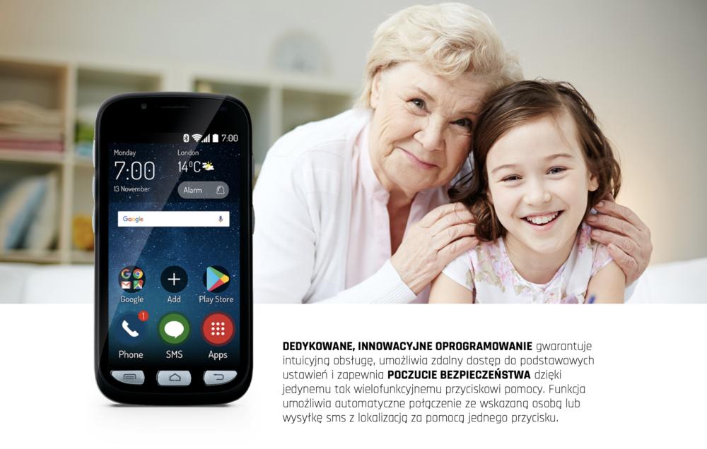 Maxcom MS459 Harmony to smartfon stworzony specjalnie dla początkujących