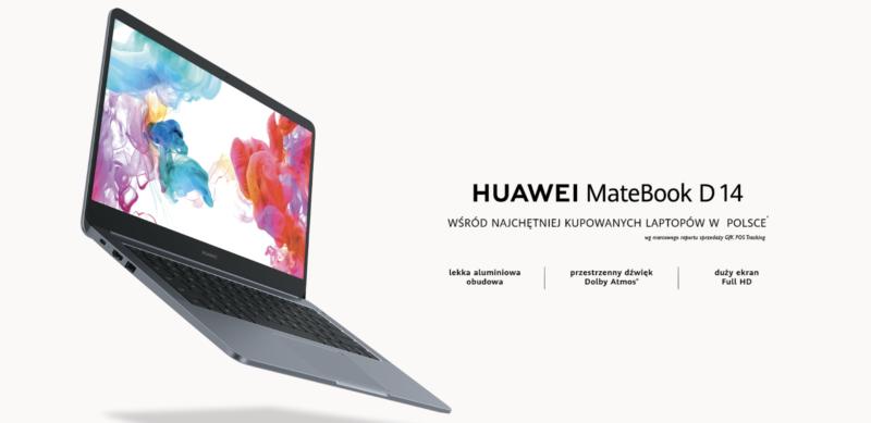 Huawei Matebook D14 - najchętniej kupowany laptop w Polsce