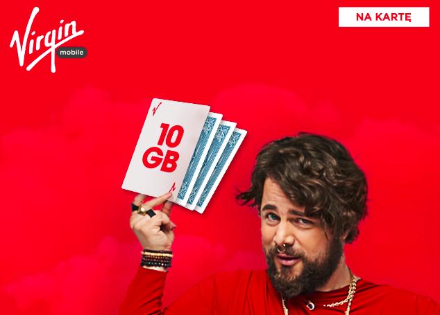Dodatkowe gigabajty w pakietach na kartę w Virgin Mobile