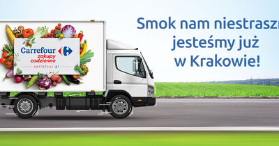 Carrefour rozwija koncept e-grocery i otwiera internetowy sklep spożywczy w Krakowie