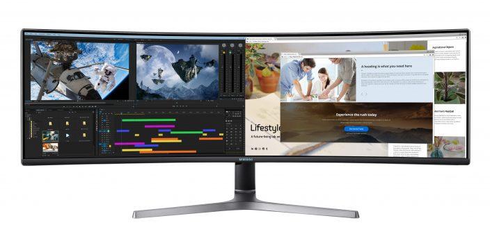 Monitor Samsung CRG9 – gamingowy flagowiec z Dual WQHD i matrycą 49 cali