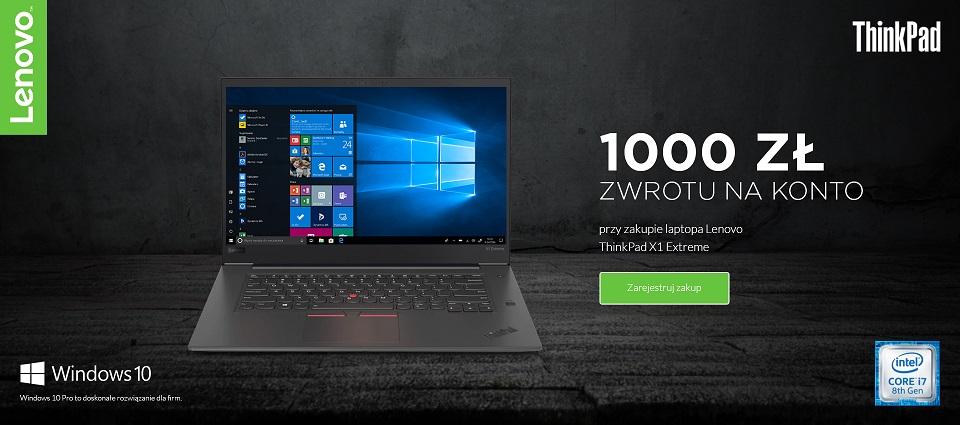 Odbierz 1000 złotych za zakup Lenovo ThinkPad X1 Extreme