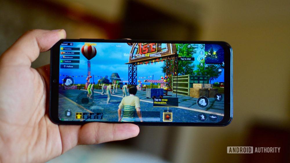 Samsung Galaxy A50 playing PUBG