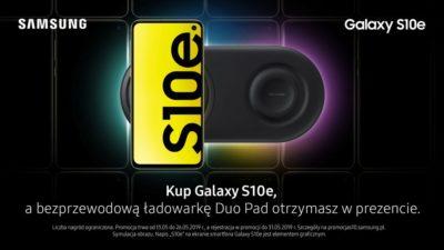 Samsung Galaxy S10e z bezprzewodową ładowarką Duo Pad w prezencie