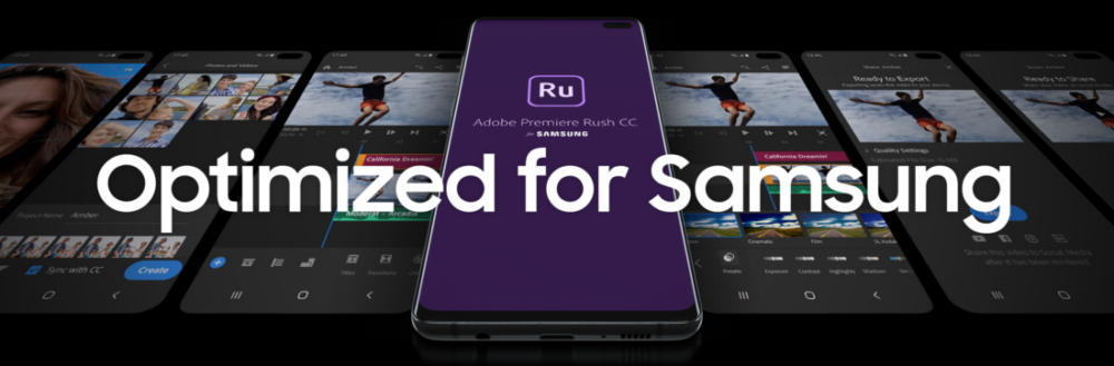 Samsung z Adobe, Premiere Rush for Samsung