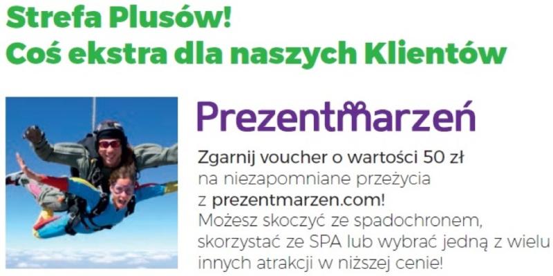 Teraz w Strefie Plusów można dostać voucher 50 zł na prezentmarzen.com