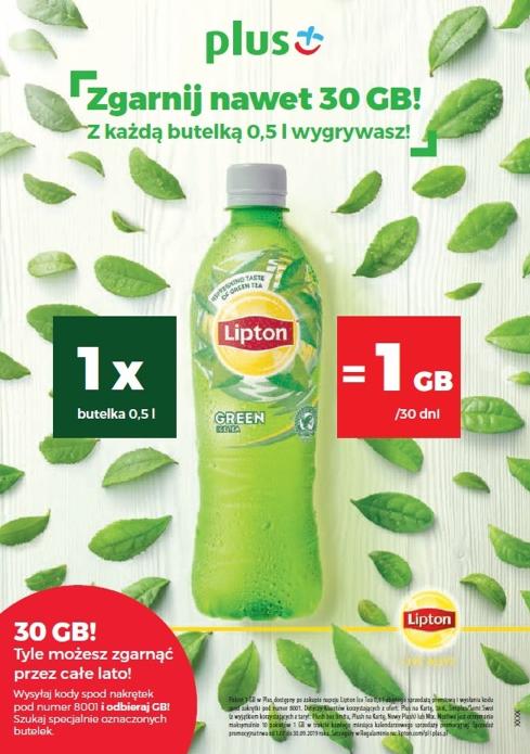 Darmowe GB od Plusa pod nakrętkami Lipton Ice Tea