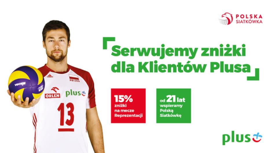 15% zniżki dla klientów Plusa na bilety na mecze siatkówki