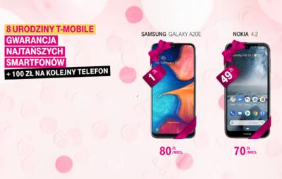 T‑Mobile świętuje 8. urodziny - 8 popularnych smartfonów z gwarancją najniższej ceny w abonamencie
