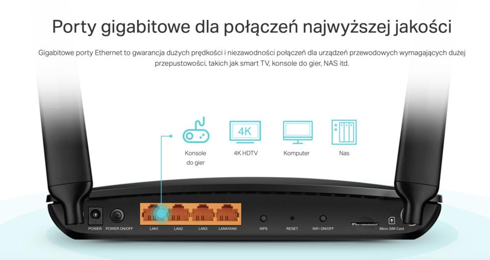 Sieć bezprzewodowa tam, gdzie jej potrzebujesz - Archer MR600 stacjonarny router 4G+ od TP-Link