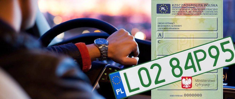 Nowe zielone tablice i profesjonalne dowody rejestracyjne