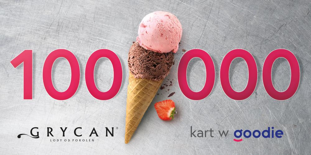 100 000 kart Grycan w aplikacji goodie