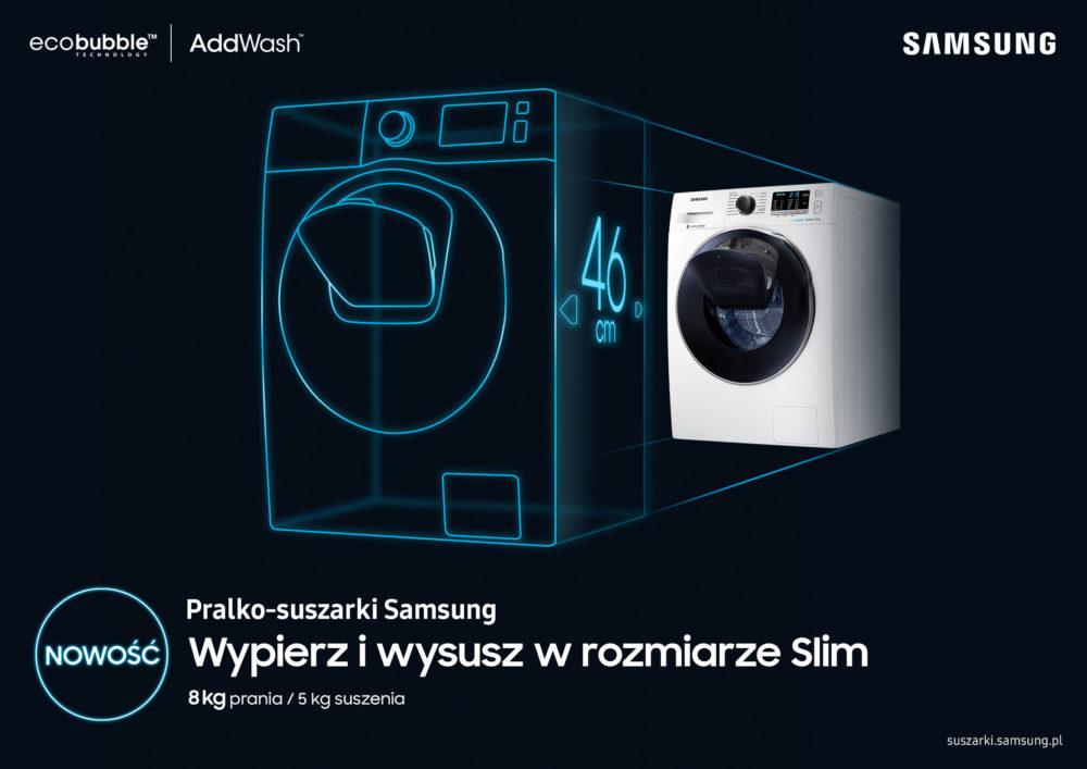 Nowa pralko – suszarka slim Samsung o pojemności aż 8 kg