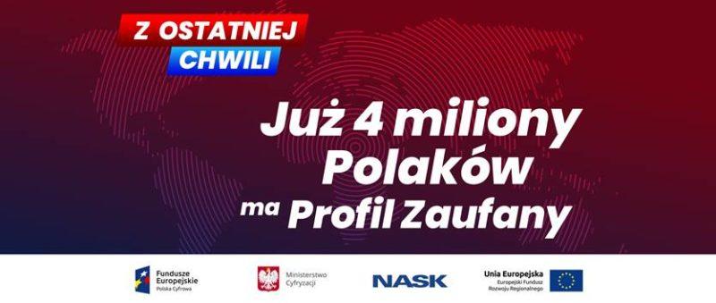4 miliony Polaków ma już Profil Zaufany