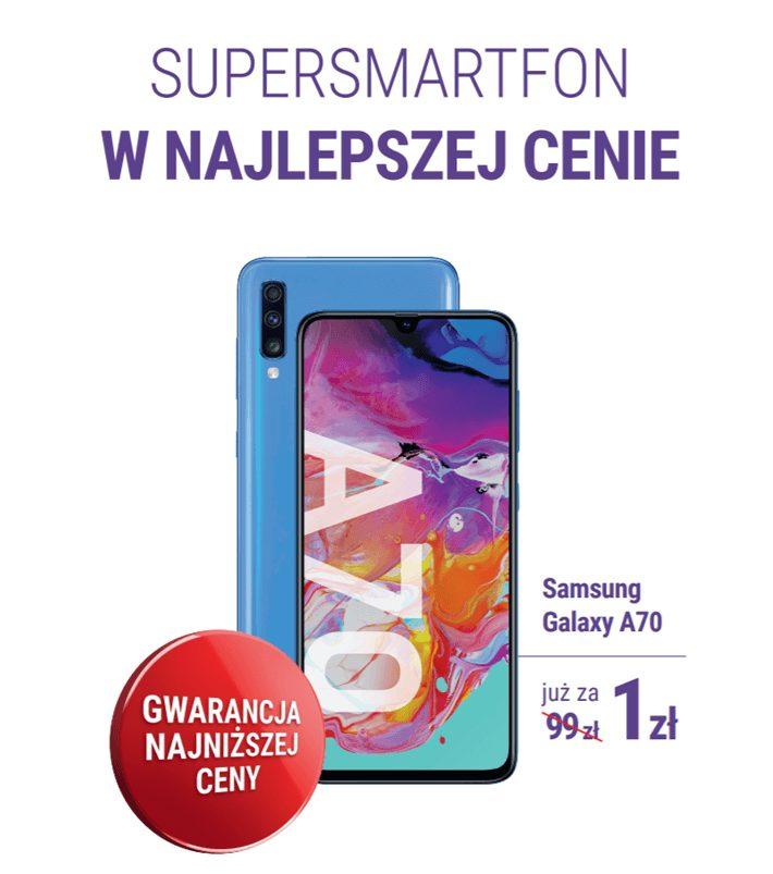 Samsung Galaxy A70 z gwarancją najniższej ceny