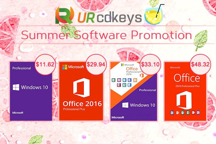 Licencja Windows 10 i Office 2016 za 28 euro. Letnia wyprzedaż razem z URcdkeys