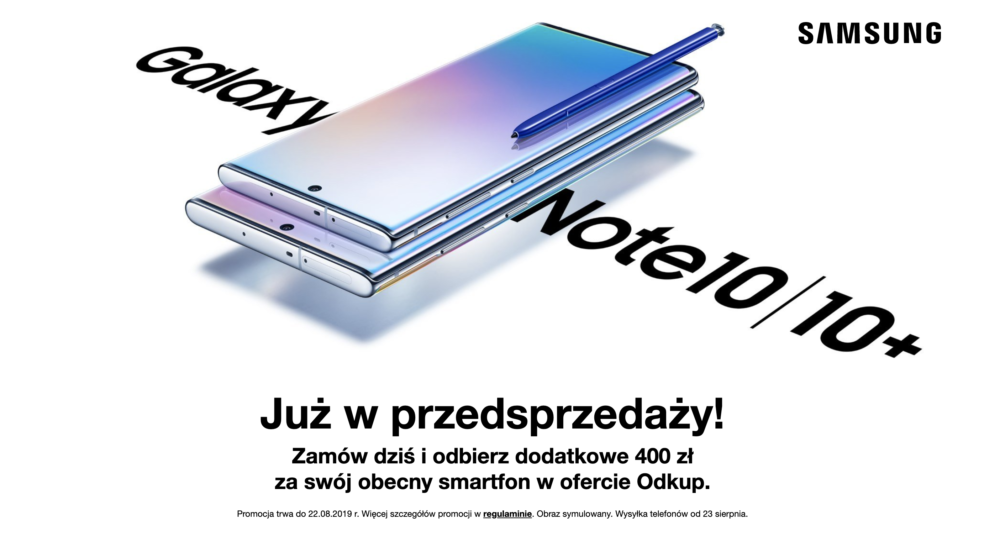 Samsung Galaxy Note 10 i 10+ już w Orange