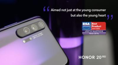 HONOR 20 Pro z prestiżową nagrodą EISA