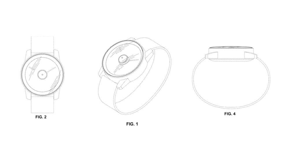Firma Google opatentowała inteligentny zegarek z dziurą w ekranie 1