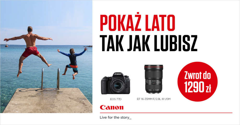 Canon przedłużył swoją letnią kampanię promocyjną