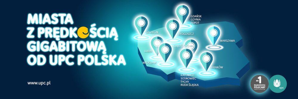 Nowe miasta z gigabitowym internetem od UPC Polska