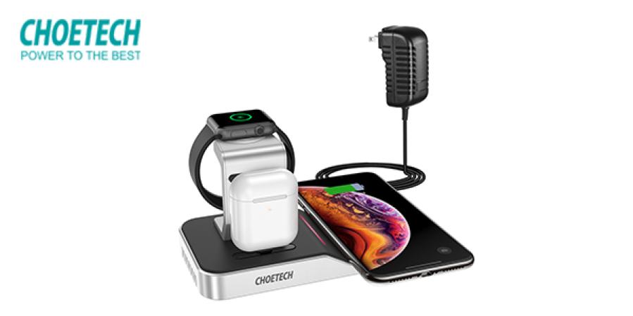 4 in 1 iPhone + Apple Watch Wireless Charging Dock (MFi Certified)