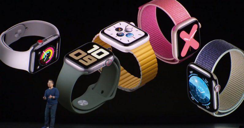 Apple Watch Series 5 z ciągle działającym ekranem