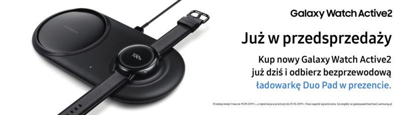Kup Galaxy Watch Active2 w przedsprzedaży i zdobądź bezprzewodową ładowarkę Samsung Duo Pad