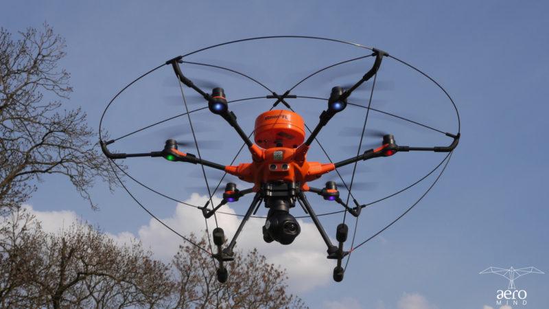 Profesjonalne drony pomagają egzekwować zapisy uchwały antysmogowej.
