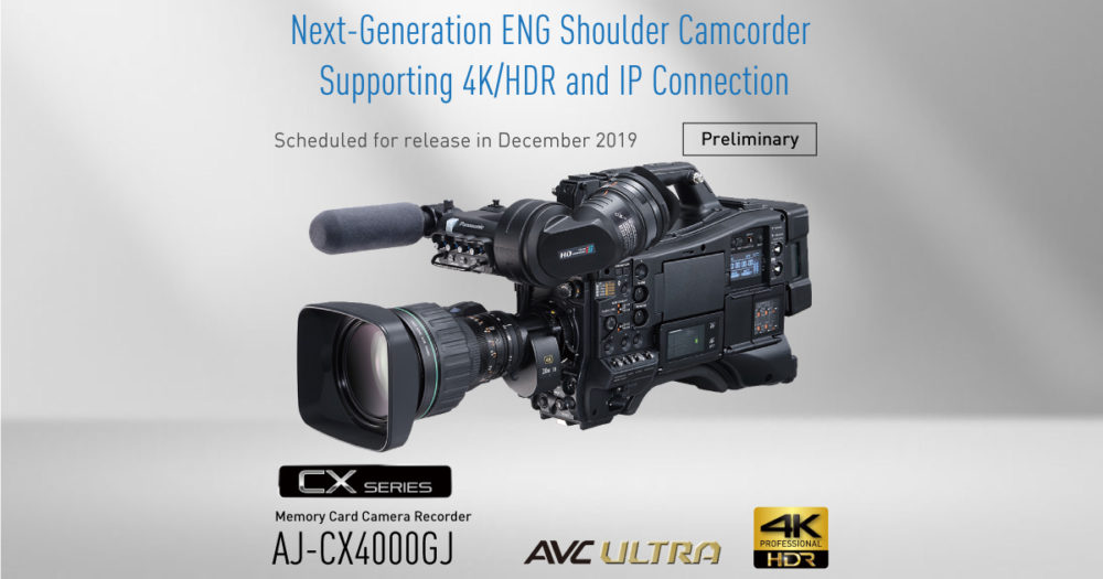 Panasonic prezentuje nową kamerę naramienną AJ-CX4000GJ z możliwością nagrywania 4k/hdr