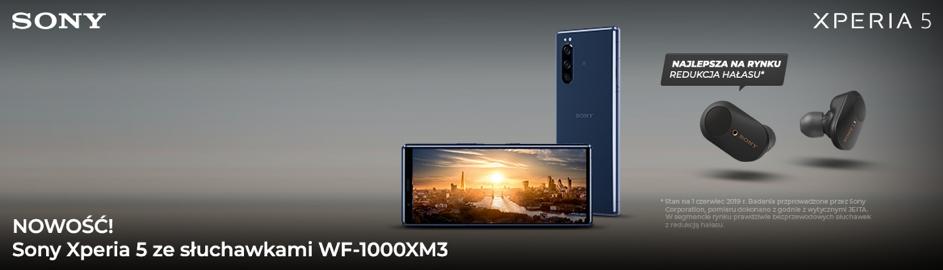 Wyjątkowy zestaw Sony w supercenie w Plusie  - Xperia 5 ze słuchawkami WF-1000XM3!