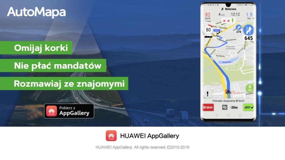 AutoMapa dołącza do Huawei AppGallery